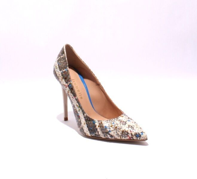 Isabelle 503 Multi Couleur Leather Stiletto Heels Pointy Toe Pumps 38   US 8