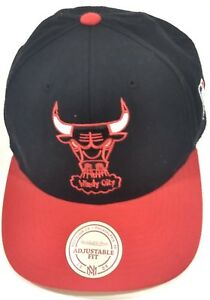 7ad2fd71713 Chicago Bulls Windy City Snapback Hat Cap NBA Basketball Red Black ...