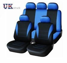 SPORTY TO FIT PEUGEOT 106 205 206 207 306 307 407 CAR SEAT COVERS BLUE BLACK