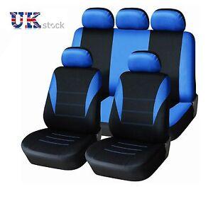 noir-bleu-Feu-tissu-Housses-de-siege-auto-set-complet-pour-Ford-Ranger-2012-gt