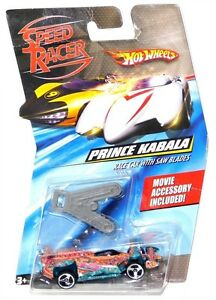 2008-Hot-Wheels-Speed-Racer-Prince-Kabala-1-64-Scale-Race-Car-with-Saw-Blades