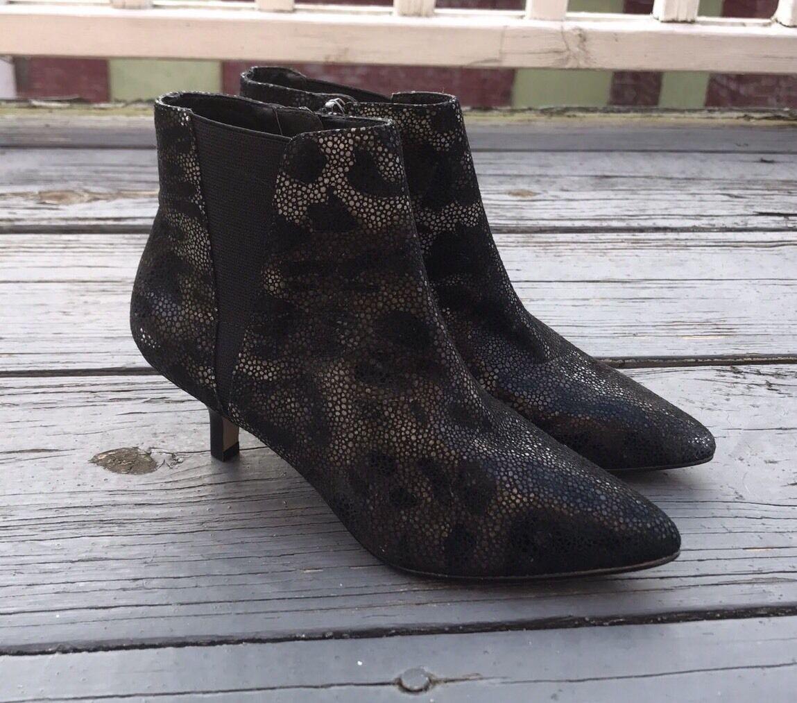 Donald J Pliner 5 Geeo Animal Print Embossed Metallic Leder Bootie Ankle Stiefel