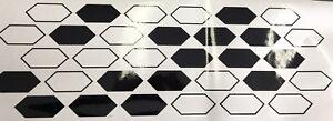 1x Car Motorrad Dekor Auto Tuning Set Autoaufkleber Waben 600x195mm schwarz