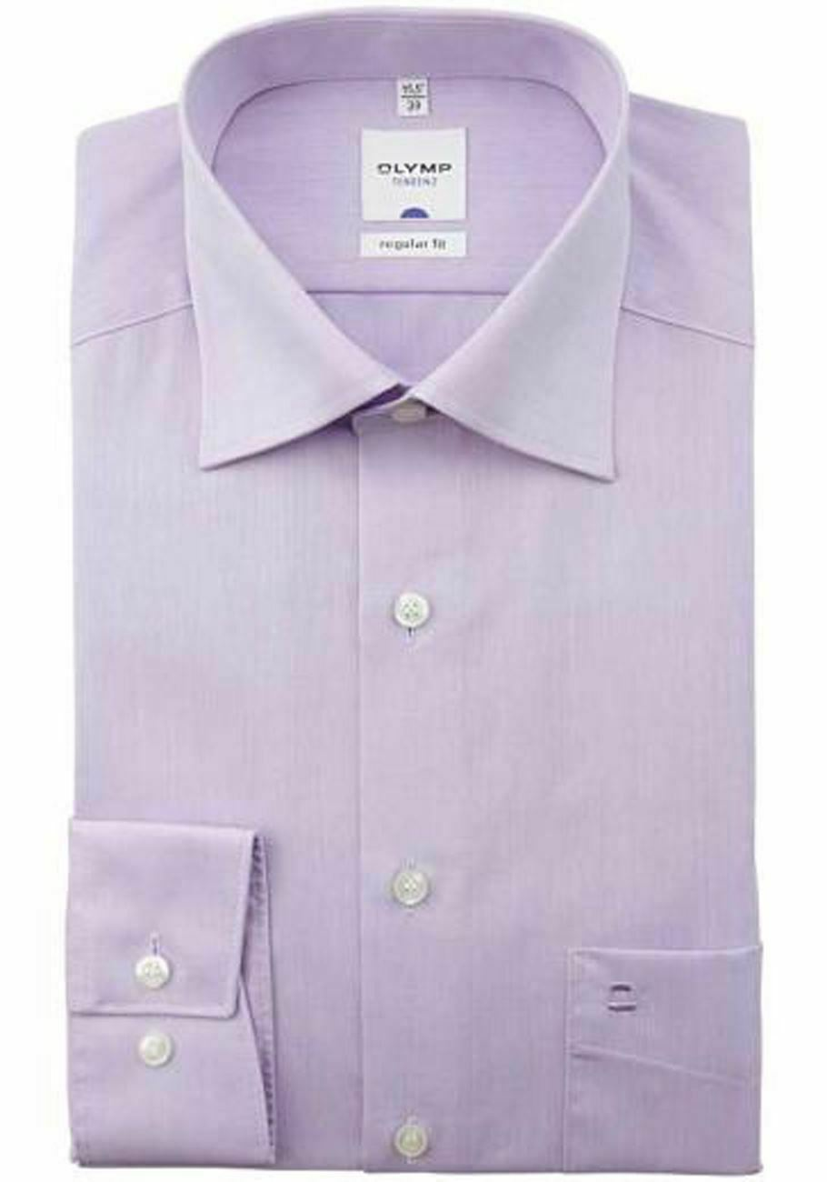 Lilac Chambray Spread Collar