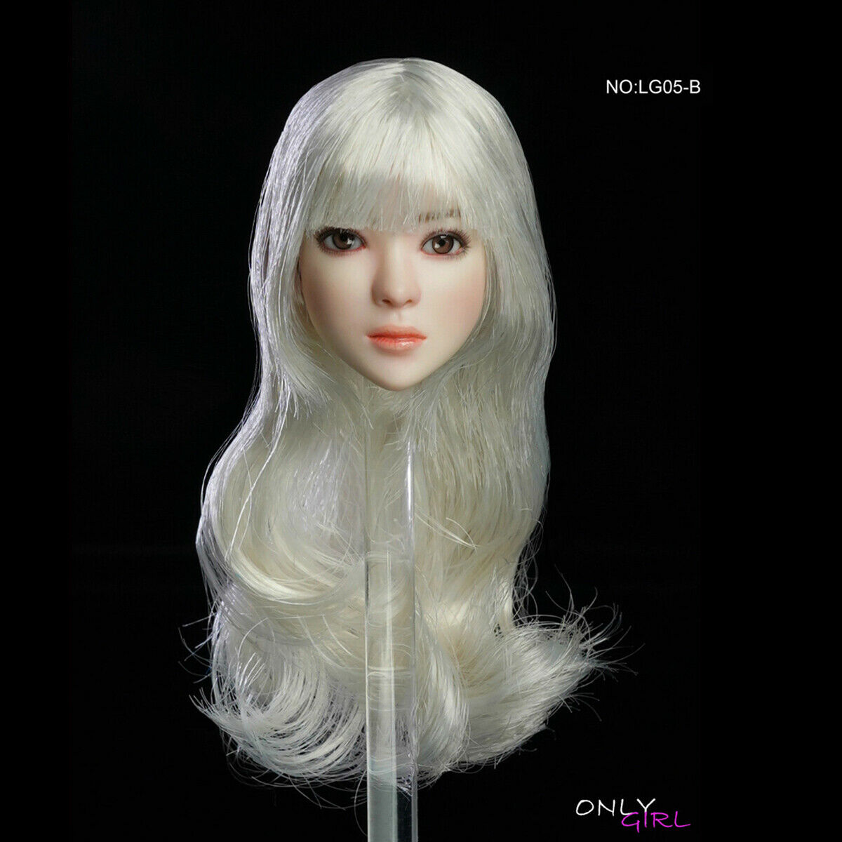 ONLYGIRL LG05B  1 6 Female Head Sculpt Movable Eyes For 12  cifra TBLeague corpo  qualità ufficiale