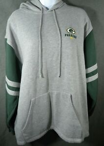 f19e953f Mens Womens Large Green Bay Packers Hooded Sweatshirt Hoodie Gray ...