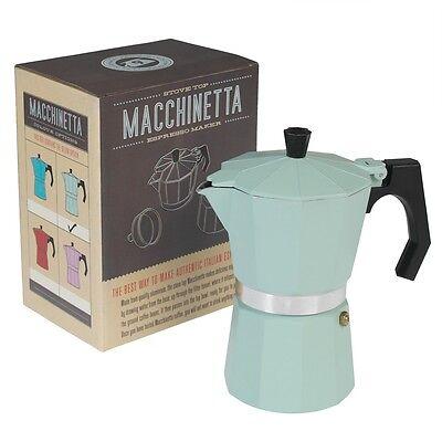 dotcomgiftshop CLASSIC ESPRESSO COFFEE MAKER POT MINT