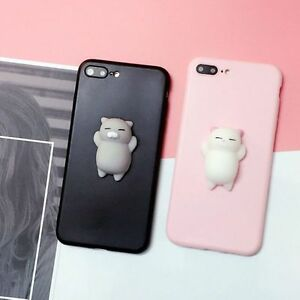 low priced bfece 1208d Details about Squishy 3D Anti Stress Lazy Kitty Cat Soft Phone Case Cover  For Samsung & Apple