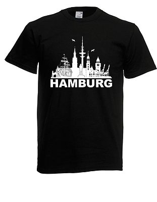 Herren T-shirt Hamburg Bis 5xl Diversifiziert In Der Verpackung