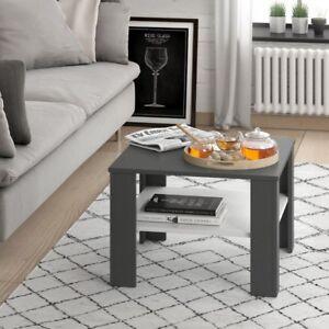 Tavolino-da-Salotto-Soggiorno-Caffe-Design-Moderno-Quadrato-con-ripiano-Bicolore