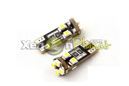 2x W5W 501 T10 8 SMD LED CANBUS ERROR FREE PARKING SIDE LIGHT BULBS XENON WHITE