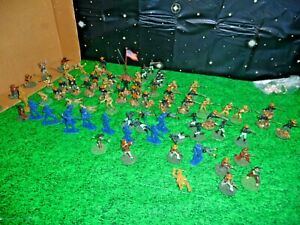US-CAVALRY-AMERICAN-SPANISH-PAINTED-54MM-HUGE-DEAL-LOT-L-K
