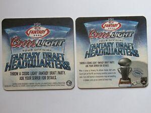 2 Bière Dessous De Verre : 2006 Coors Light~ Officiel Fantaisie Football Draft 91qsmm7p-07234824-469934543