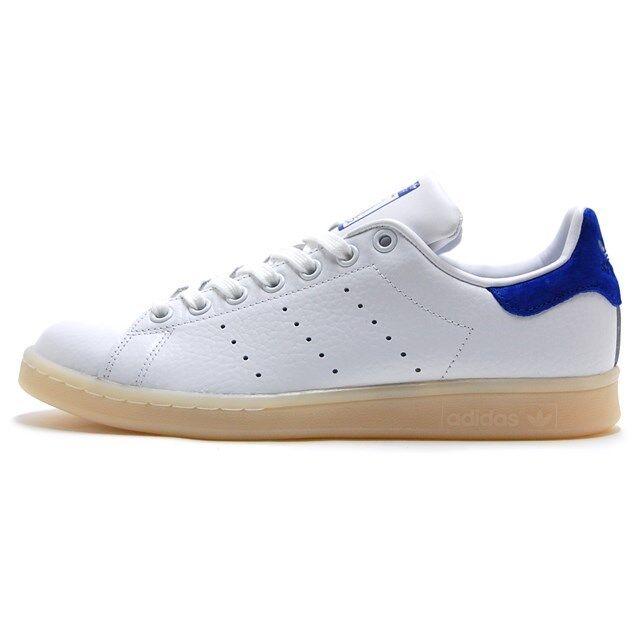 Adidas stansmith Zapatos UU. Blanco/azul negrita BZ0488 EE. UU. Zapatos para hombre 449e3d
