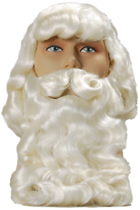 Wig Fancy Dress Costume Outfit Mens Deluxe Santa Claus Father Christmas Beard