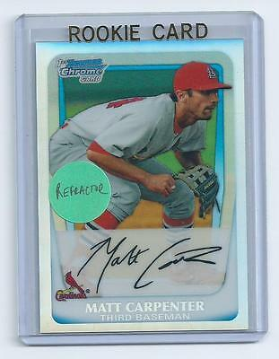 Matt Carpenter 2011 Bowman Chrome Refractor Rookie Card #bcp66  only 799  made