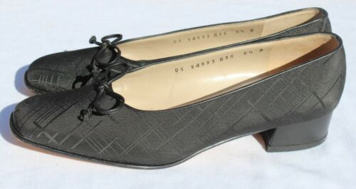 Salvatore tissu 6 en Uk 4 signature noirs Ferragamo taille B Escarpins Chaussures Us 5 rIqwTrgP