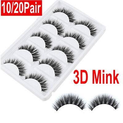 20Pair 3D Mink Natural Thick False Fake Eyelashes Eye Lashes Makeup Extension