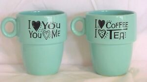 Grasslands-Road-Stacking-mugs-Love-Coffee-Tea-Mugs-Turquoise-Gift-Stackable