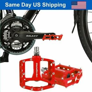 Aluminum Alloy Bike Pedals Road Bicycle Pedal Mountain Bike Accessories Red