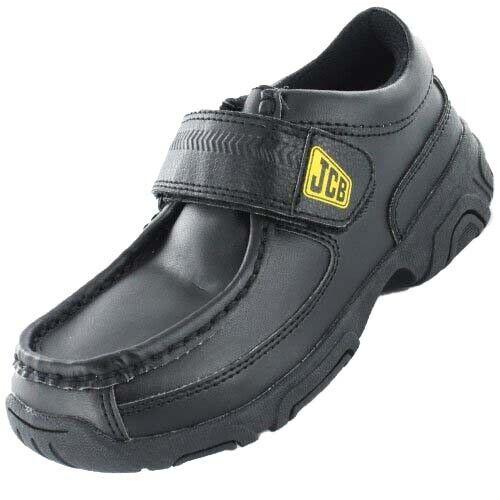 JCB Boy/'s simple noir avec JCB Logo Facile Bracelet over School Shoes