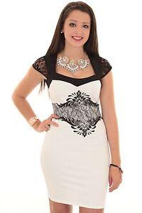 Ladies Cap Sleeve Glitter Floral Mesh Lace Insert Short Mini Smart Bodycon Dress