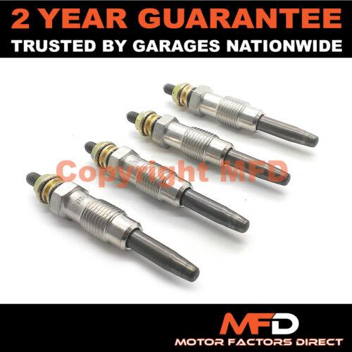 1983-1998 Diesel Chauffage Bougies De Préchauffage Set Complet 4X pour PEUGEOT 205 1.8 D//TD