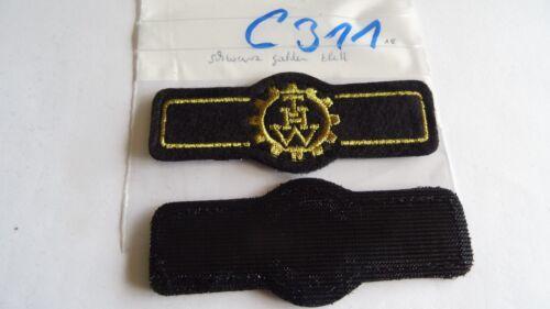 THW Rangabzeichen Vertreter Landesvereinigung schwarz-golden Klett c311-