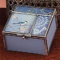 Robin Antique Blue Square Jewelry Box