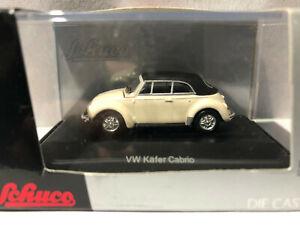 weiß 1:87 Schuco VW Käfer Cabrio