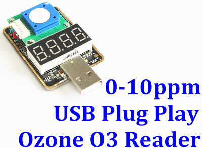 Winsensors 0-100ppm Ozone O3 Sensor USB Plug Play Reader Analyzer Monitor