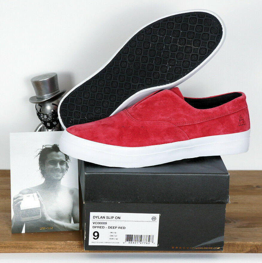 Huf Footwear Scarpe da Skate scarpe Dylan Rieder da Infilare Deep rosso Suede 10 43 | Acquisti online  | Maschio/Ragazze Scarpa