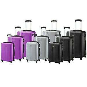 ABS Hard shell Hard Case Suitcase Travel Trolley Bag Luggage 4 Wheel Suitcases