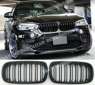 Amichevole Bmw X5/x6, F15/f16,2014-18, Doppio/doppio A Doghe/bar X5m/x6m Look Griglia, Nero Lucido-2014-18,double/dual Slat/bar X5m/x6m Look Grille,gloss Black It-it Top Angurie