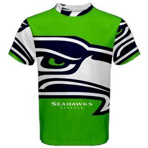 New-Seattle-Seahawks-Eye-Sublimation-Men-039-s-Sport-Mesh-Tee-T-Shirt-Size-XS-5XL