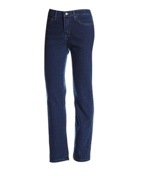 8c9af68c1f30f Women s Lee 8 S Short Relaxed Straight Leg at The Waist 3051867 Blue Jeans
