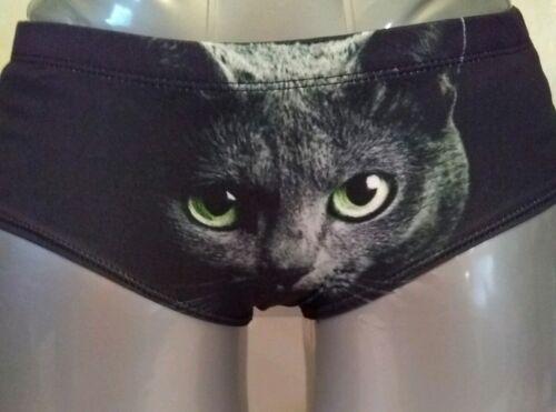 Black Cat Kitty Panties// Here Kitty Kitty Boy Short Panties
