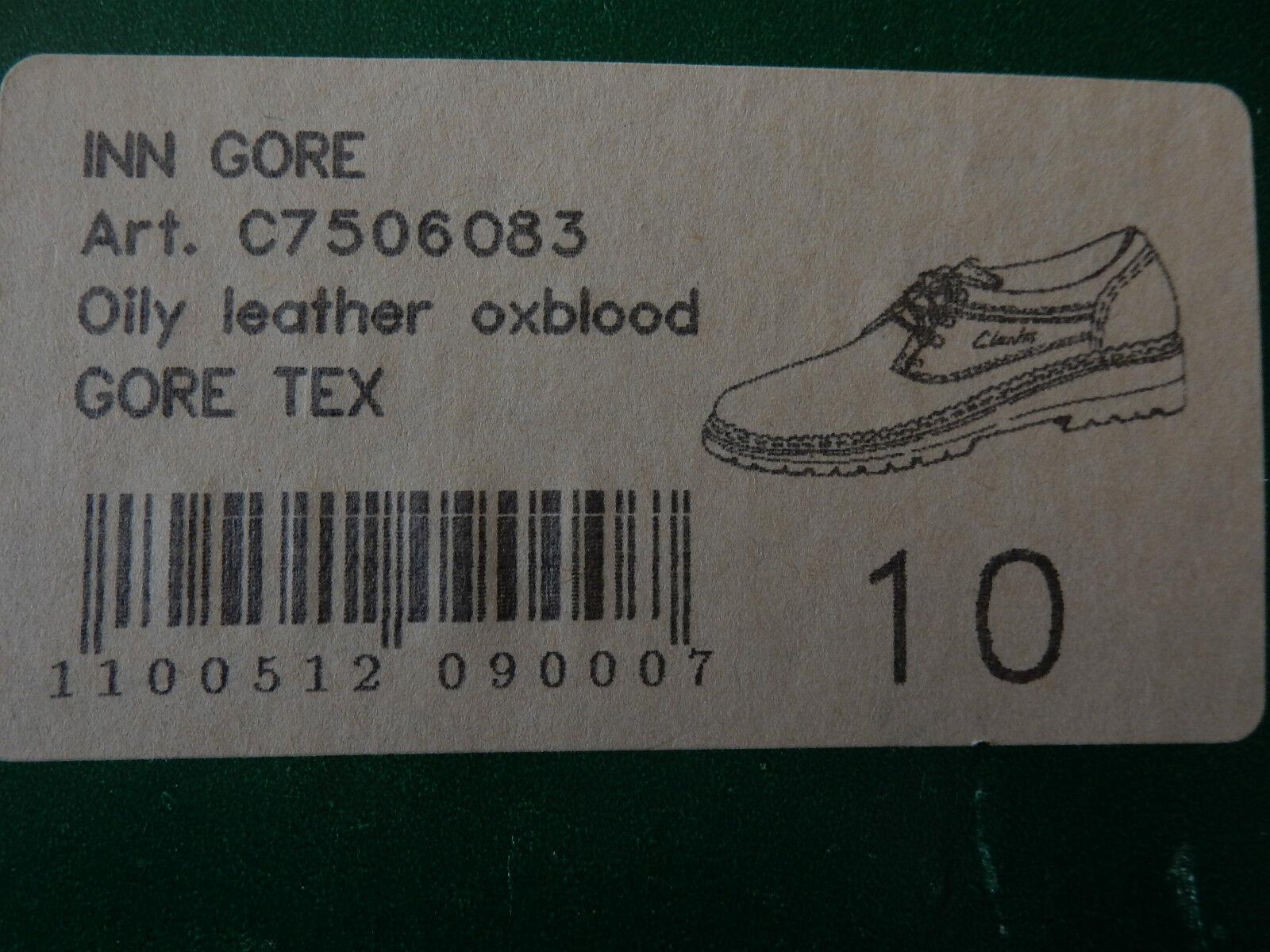 Clarks Herren Leder Schnür Schuhe, dunkelrotbraun, NEU, Öse, Gr.10