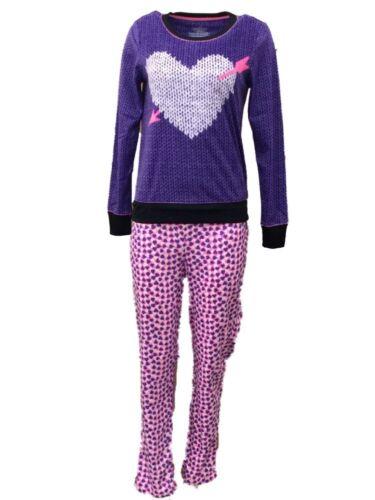 Celestial Dreams Womens Purple Heart Pajamas Fleece Pajama Set
