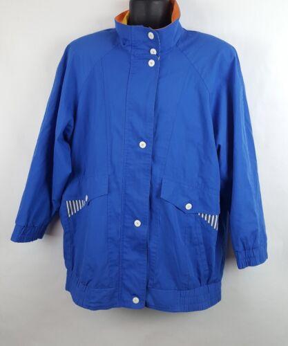 blu Sport Braefair da '90 Large Giacca J6 Vintage Womens Nautical '80 vela anni anni 685dw7q
