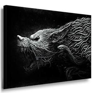 Französische Bulldogge Schwarz-Weiß AK Art Bilder Kunstdruck Made in Germany XXL