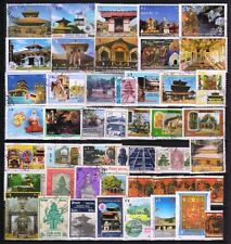 Hindu Mythology God & Goddess Temple of Nepal-46 All Different Used Stamps