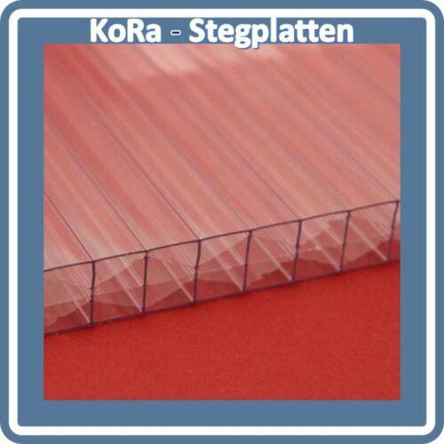 Polycarbonat X-Steg Hohlkammerplatten 1200 mm breit klar 18,50 Euro//m² 16mm