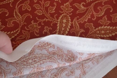 By 1//2 Yd Andover//Bridgeport//Morton//5601 R B137 Tan on Rust Quilting Cotton