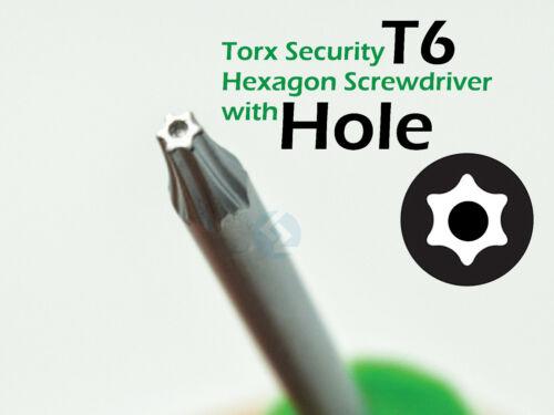 Nouveau Torx de sécurité T6 Hexagone Tournevis avec Trou pour Apple Mac Mini 2014