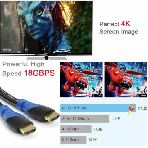 Premium HDMI Cable 4K UHD 1.5ft 10ft 15ft 20ft 30ft 50ft with CL3 Rated US Lot