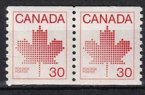 Canada MNH 1982 Maple Leaf 30¢ definitive coil pair, sc#950