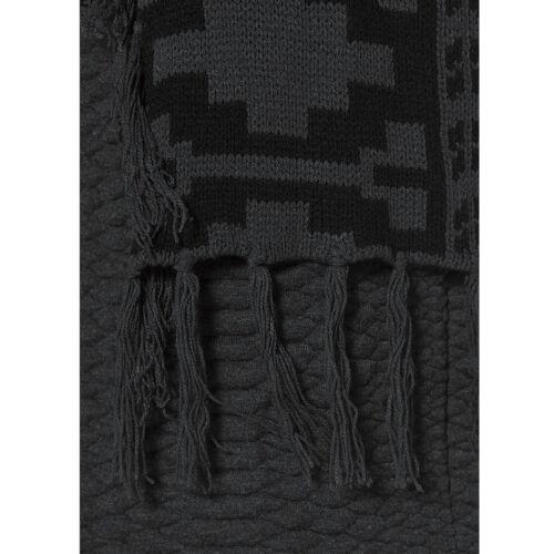 genial WEICH Cardigan Strickjacke Jacke SCHWARZ GRAU FRANSEN Gr.34//36 XS//S