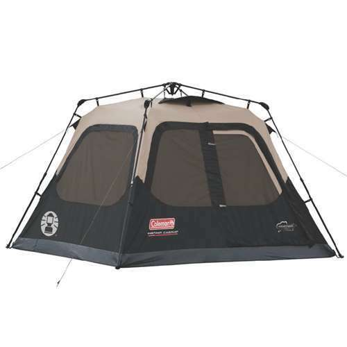 Coleman  Outdoor Camping 4-Person Instant Tent 8 x 7 Feet w  WeatherTec (Used)  guaranteed