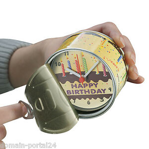 Exklusive Dosen Uhr Happy Birthday Zum Sonderpreis Trendy / Witzig Geschenkidee